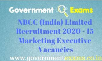 NBCC India Limited Marketing Executive Recruitment 2020
