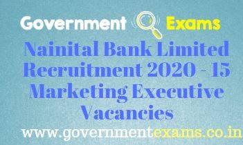 Nainital Bank Limited Marketing Executive Recruitment 2020
