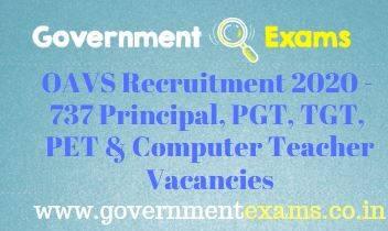 OAVS Principal and Teachers Recruitment 2020