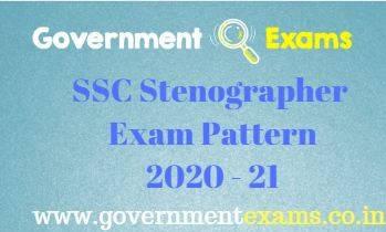 SSC Stenographer Exam Pattern 2020