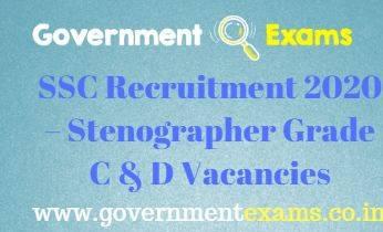 SSC Stenographer Gr C and D Recruitment 2020