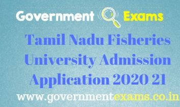 Tamil Nadu Fisheries University Admission Application 2020 21