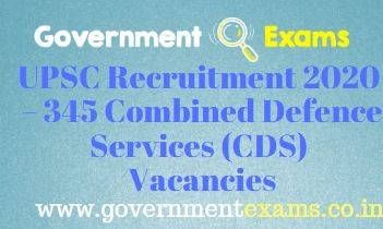 UPSC CDS Recruitment 2020-21