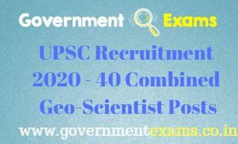 UPSC CGS Examination 2020-21