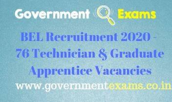 BEL Technician Graduate Apprentice Recruitment 2020