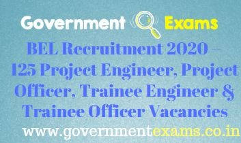 BEL Trainee Engineer Project Engineer Recruitment 2020