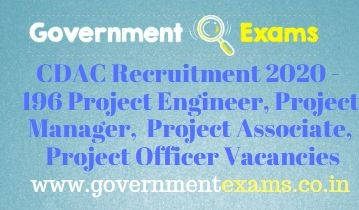 CDAC Project Engineer Manager Officer Recruitment 2020