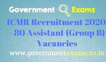 ICMR Assistant Recruitment 2020