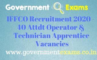 IFFCO Operator Technician Apprentice Recruitment 2020