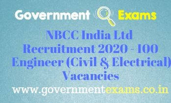NBCC India Limited Engineer Recruitment 2020