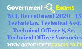 NCL Technician Recruitment 2020