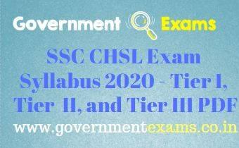 SSC CHSL Exam Pattern and Syllabus 2020