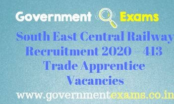 South East Central Railway Trade Apprentice Recruitment 2020