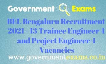BEL Project Trainee Engineer Recruitment 2021