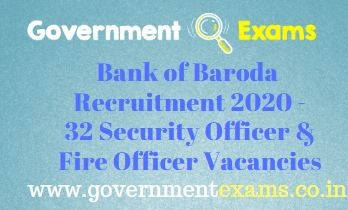 BOB Security Officer Fire Officer Recruitment 2020