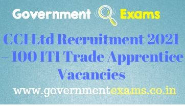 CCI Ltd Trade Apprentice Recruitment 2021