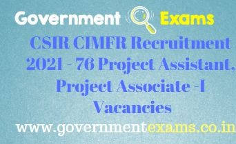 CIMFR Project Assistant Associate Recruitment 2021