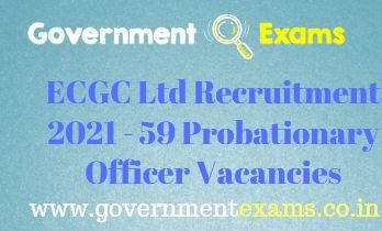 ECGC Ltd Probationary Officer Recruitment 2021