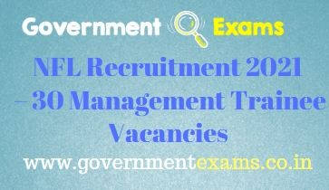 NFL Management Trainee Recruitment 2021