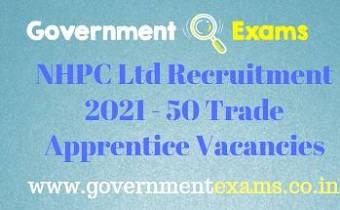 NHPC Ltd Trade Apprentice Recruitment 2021