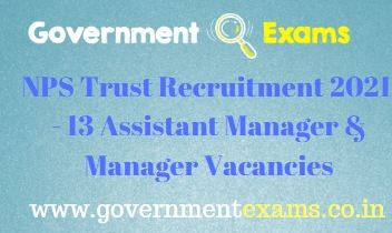 NPS Trust Assistant Manager Recruitment 2021