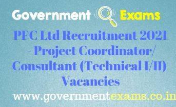 PFC Project Coordinator/Consultant Recruitment 2021