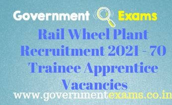 Rail Wheel Plant Trainee Apprentice Recruitment 2021