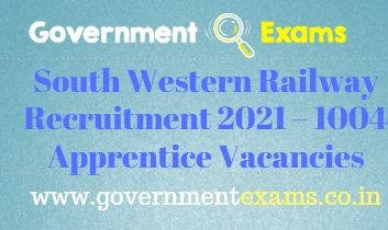 South Western Railway Apprentice Recruitment 2021