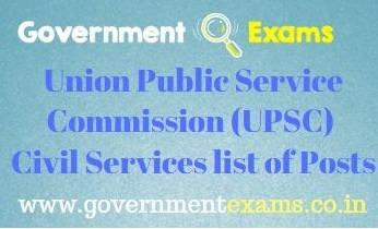 UPSC Services List