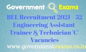 BEL Non Executives Recruitment 2021