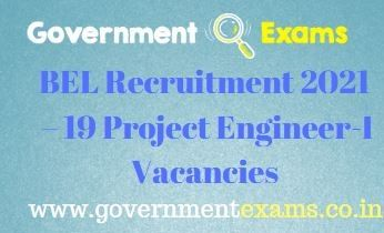 BEL Project Engineer I Recruitment 2021