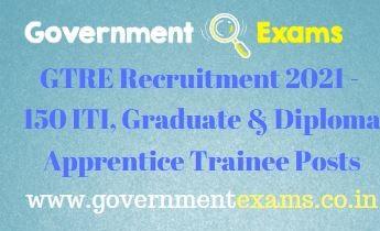 DRDO GTRE Apprentice Trainee Recruitment 2021