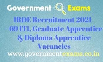 DRDO IRDE Apprentice Recruitment 2021