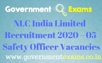 NLC India Safety Officer Recruitment 2021
