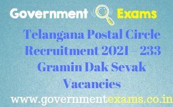 Telangana Postal Circle GDS Recruitment 2021