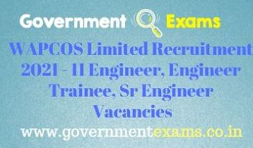 WAPCOS Limited Engineer Recruitment 2021
