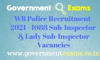 West Bengal Police Lady Sub Inspector Recruitment 2021