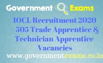 IOCL Trade Technician Apprentice Recruitment 2021