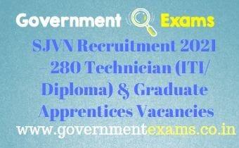 SJVN Apprentice Recruitment 2021