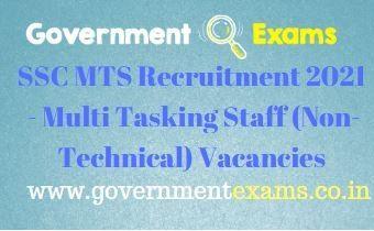 SSC MTS Non-Technical Recruitment 2021