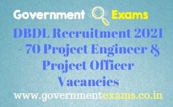 BDL Project Engineer Officer Recruitment 2021