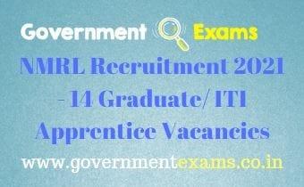 DRDO NMRL Apprentice Recruitment 2021