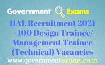 HAL Design Management Trainee Recruitment 2021