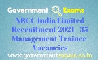 NBCC India Management Trainee Recruitment 2021