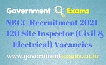 NBCC India Site Inspector Recruitment 2021