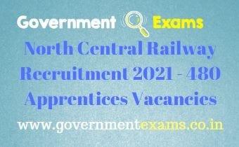 North Central Railway Apprentice Recruitment 2021