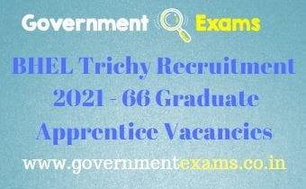 BHEL Trichy Graduate Apprentice Recruitment 2021