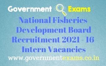 NFDB Intern Recruitment 2021