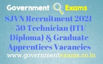 SJVN Apprentices Recruitment 2021
