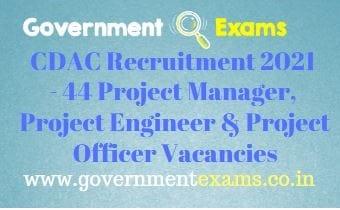 CDAC Hyderabad Project Engineer Recruitment 2021